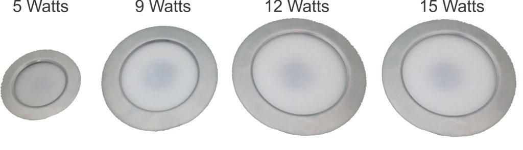 lamparas led multiples tamaños