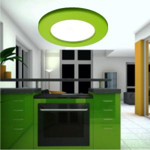 led redondo verde ultradelgado